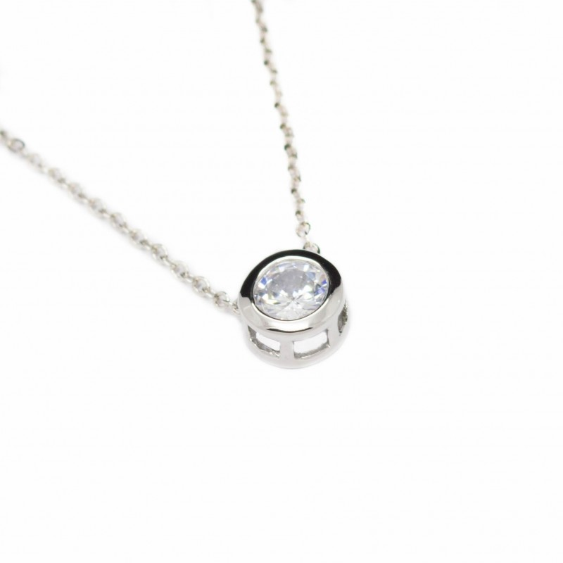 necklace round gold hollow jewellery plated cut rhodium accent chain box white diamond double