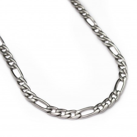 Men's stainless steel classic Figaro link chain