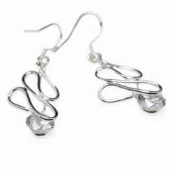 Boucles d'oreilles pendantes argent femme
