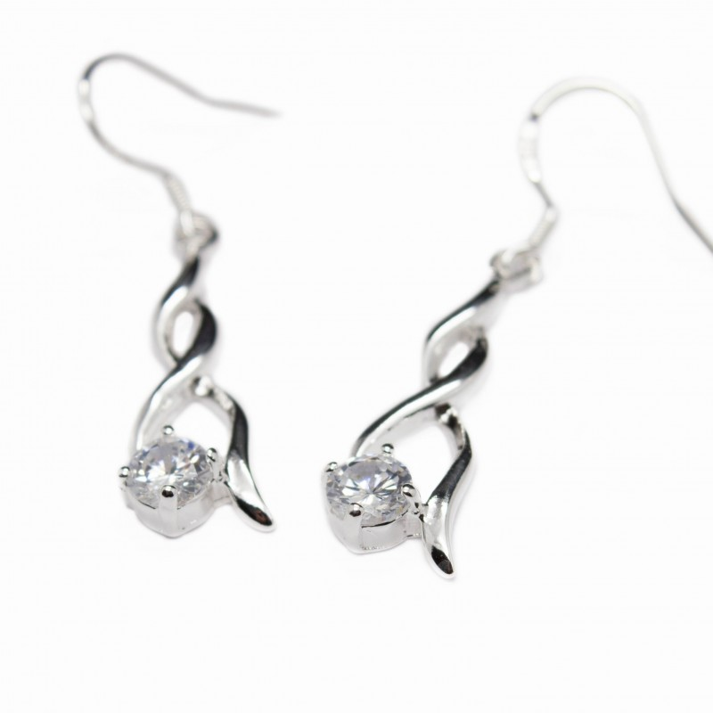 Boucles d'oreilles argent pendantes femme