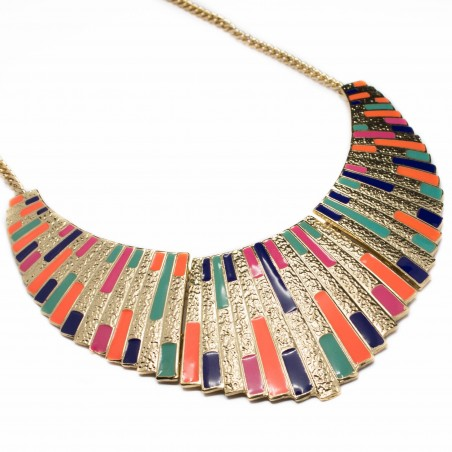 Women's multicolored fashion necklace