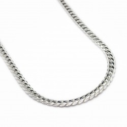 Men's or women's thin silver twisted rope chain necklace