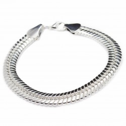 Women's or men's silver snake style bracelet