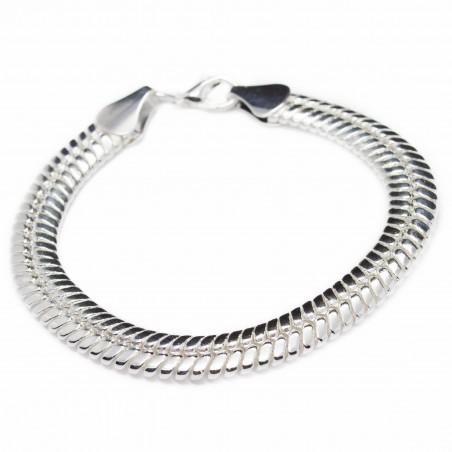 Bracelet / gourmette en argent de style serpent pour femme ou homme