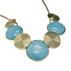 Collier femme fashion bleu