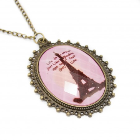 Women's Eiffel Tower long necklace