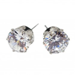 Men's or women's silver stud earrings
