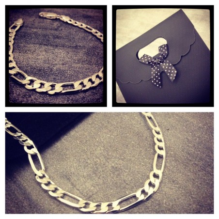 Men's chain bracelet and necklace gift set