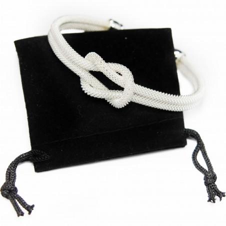 Women's trendy silver knotted cuff bracelet