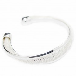 Three bands silver cuff bracelet