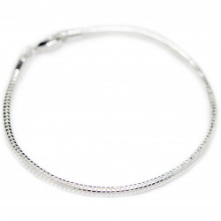 Bracelet fin snake en argent, mixte pour homme et femme