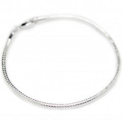 Men's or women's silver thin snake chain bracelet