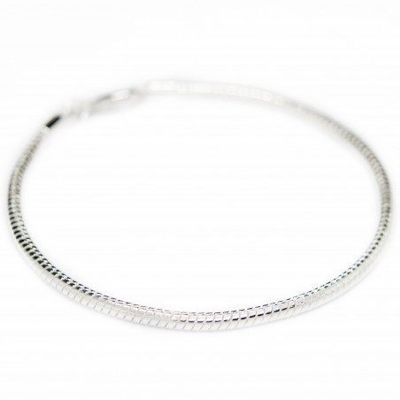 Men's or women's silver thin snake chain bracelet
