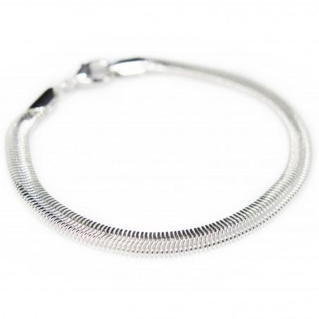 Silver snake chain bracelet, for men as well as women
