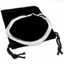Bracelet Gourmette en argent style snake pour homme comme pour femme