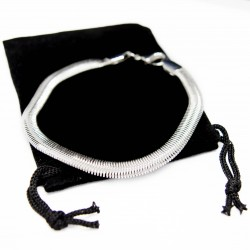 Silver snake chain bracelet, for men as well as women