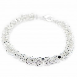 Women's fancy silver bracelet