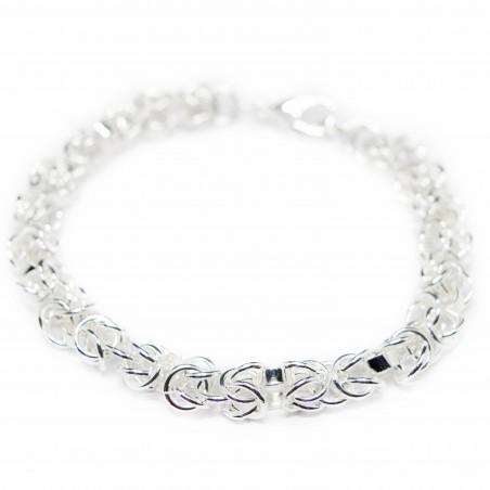 Women's fancy silver bracelet