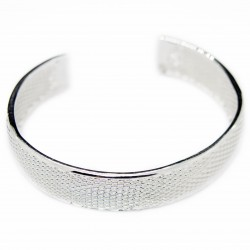 Women's silver cuff bracelet, simple and classy