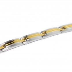 Gourmette Bracelet classique pour homme en acier