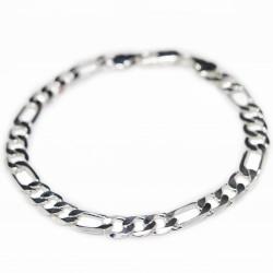 Men's silver classic Figaro chain link bracelet