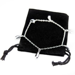 Silver charm bracelet with 5 small drops, a bracelet for women