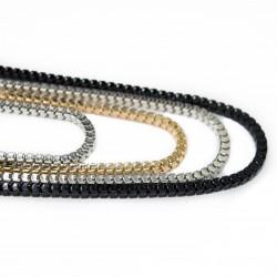 Chaines carrées de 4 différentes couleurs pour femme fashion