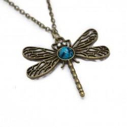 Collier sautoir fashion avec un pendentif Libellule bijou pour femme