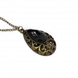 Collier sautoir, avec un pendentif en forme de goutte pour femme