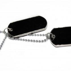 Collier chaine pour homme ou femme fashion, avec un pendentif de style Dog Tag