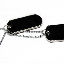 Men's or women's silver dog tags fashion necklace