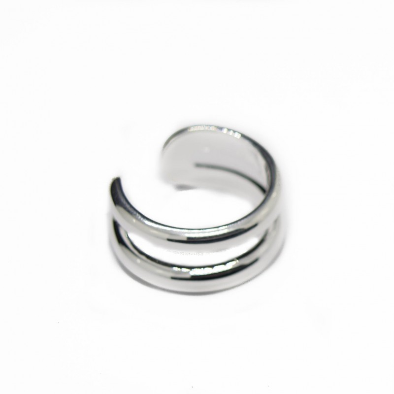 Women's adjustable silver double ring, affordable