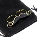 Bague pour deux doigts pour femme, en forme de moustache