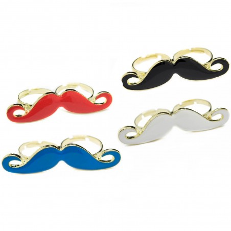 Women's two finger mustache ring