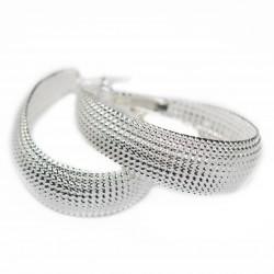 Women's silver wide hoop earrings