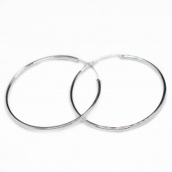 Women's silver hoop earrings