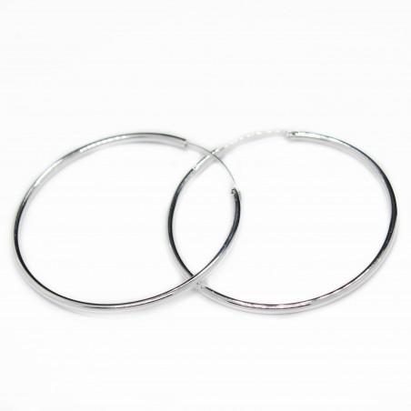 Boucles d'oreilles en argent de forme de boucle pour femme