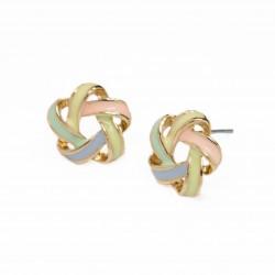 Women's flower stud earrings