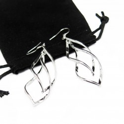 Women's silver dangle earrings, jewellery for the modern woman