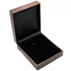 Boite à collier marron pour vos bijoux, pas cher