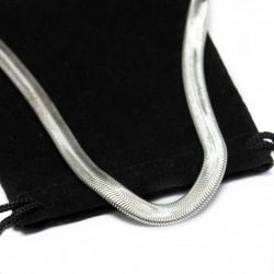 Collier en argent avec une chaine de style snake pour homme ou femme