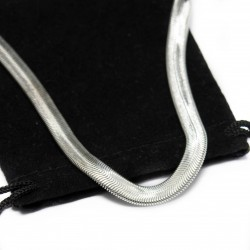 Men's or women's silver snake chain necklace