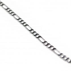 Men's silver figaro chain necklace