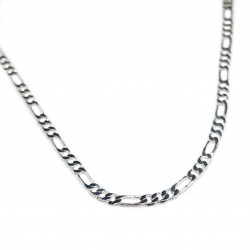 Men's silver figaro chain necklace