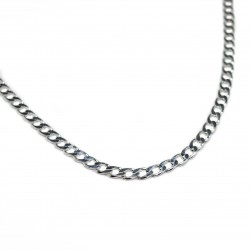 Men's silver classic chain necklace