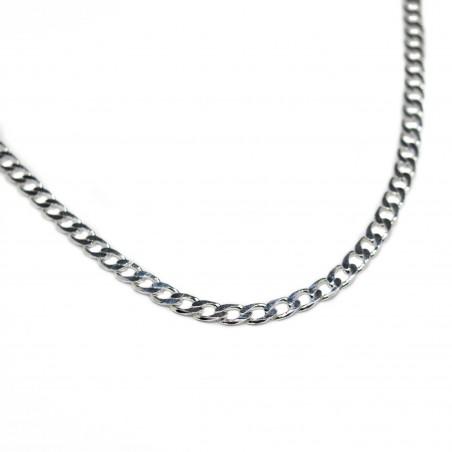 Men's silver classic chain necklace