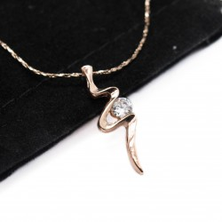 Women's pink gold chain with pendant