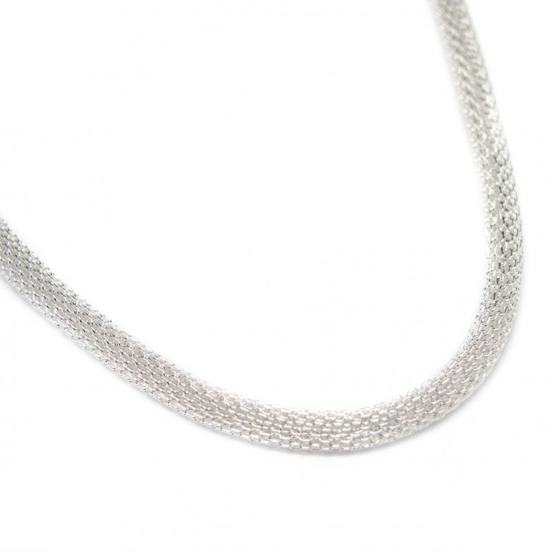 Men's or women's silver round chain necklace