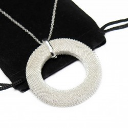 Women's silver circle necklace