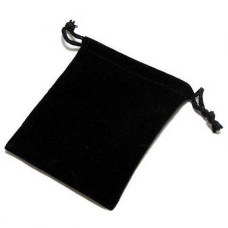 Black velvet drawstring pouch to store your jewellery